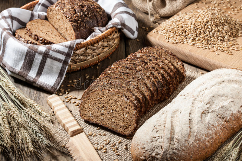 Loaves of rye bread stock photography