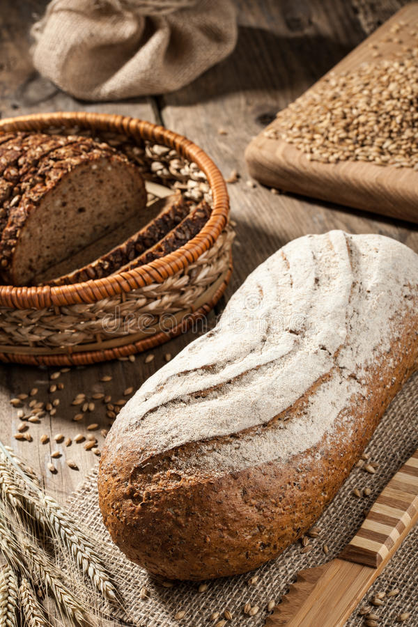 Loaves of rye bread royalty free stock image