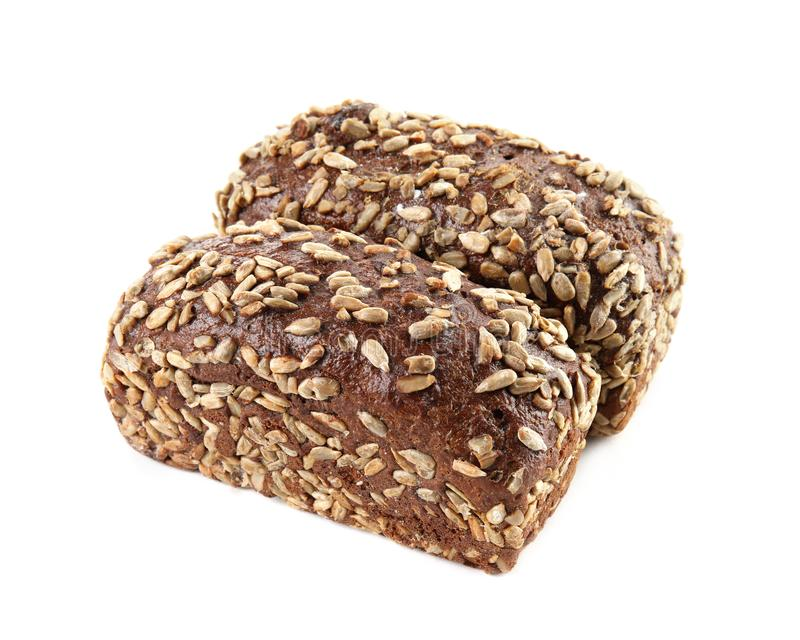 Loaves of rye bread with sunflower seeds royalty free stock photos