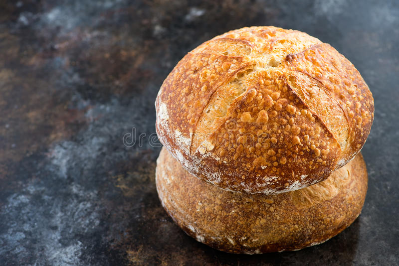 Loaves of sourdough bread royalty free stock photography