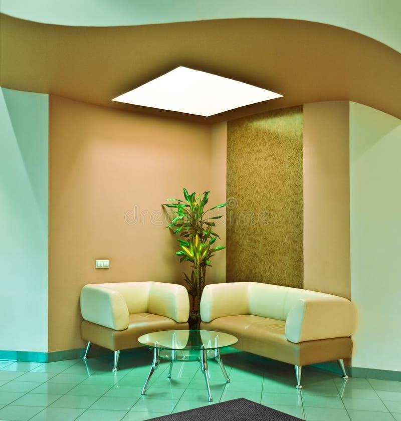 Lobby. Anteroom modern interior, close up stock images