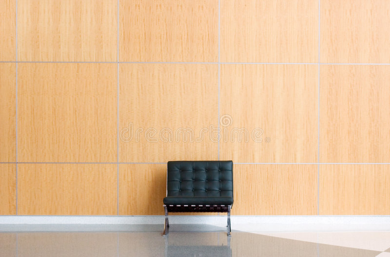 Lobby. Single chair against wall in a lobby