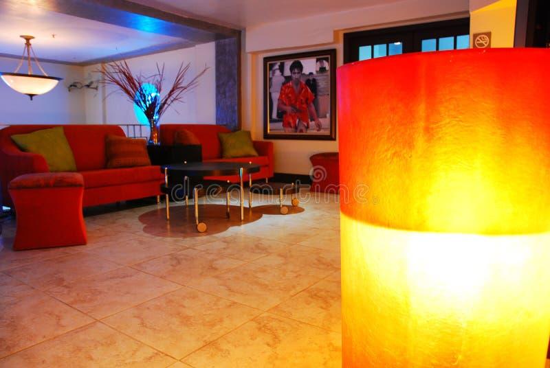 Lobby av det Beacpn hotellet, södra strand arkivbilder