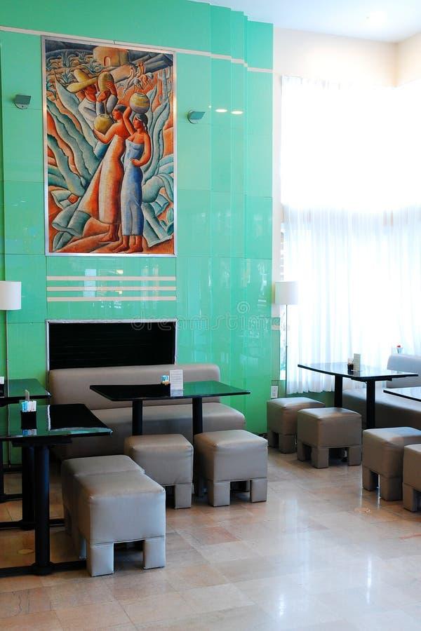 Lobby av kolonihotellet, Miami Beach royaltyfri foto