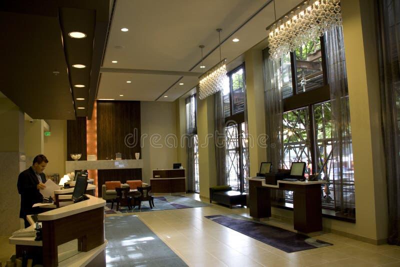 Lobby D Hôtel De Luxe Image éditorial