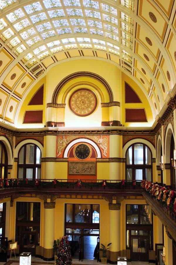 Lobby d'hôtel de station des syndicats photo stock