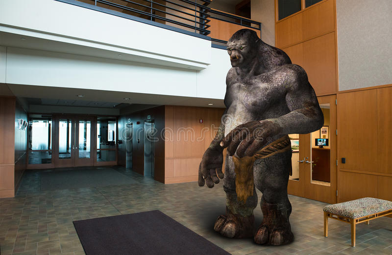 Lobby de local commercial construisant Troll photographie stock
