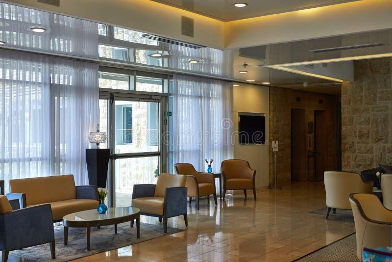 Lobby de Yehuda Hotel à Jérusalem images stock