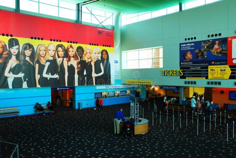 Lobby du musée des enfants d'Indianapolis photo libre de droits