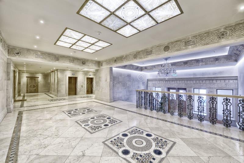 Lobby för inredesign arkivfoto