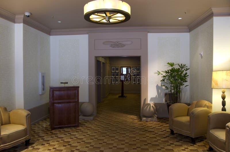Lobby historique de luxe d'hôtel photo stock