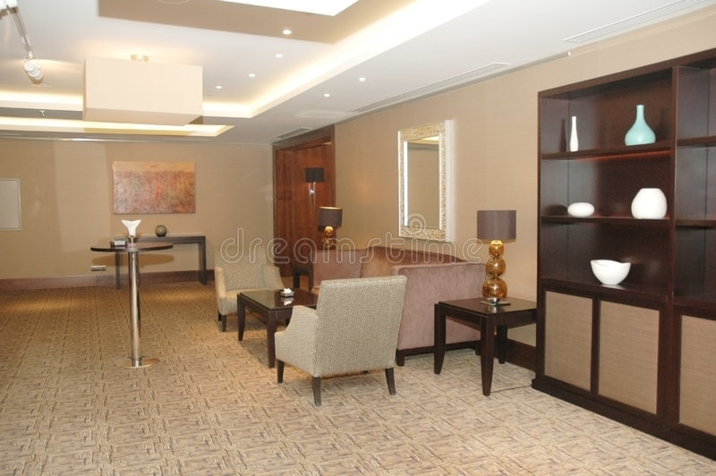 Lobby of the hotel stock photography