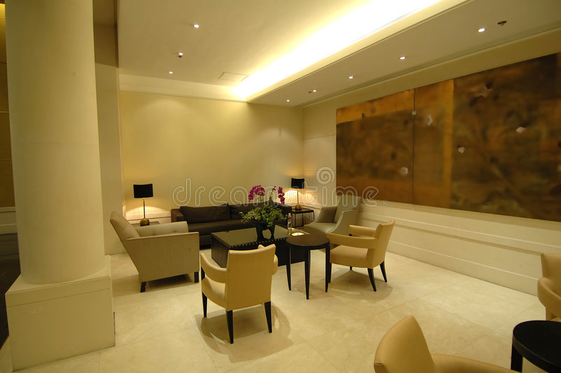 The lobby in hotel royalty free stock photography