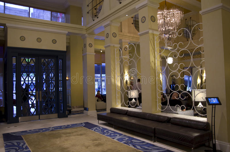 Lobby of Hotel Monaco Seattle royalty free stock images