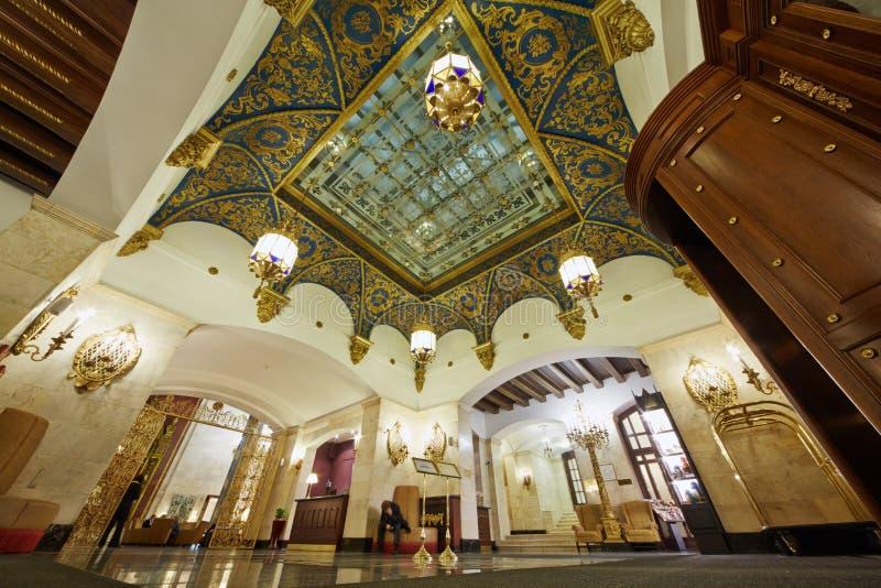Lobby Hotelowy Hilton Leningradskaya zdjęcia stock