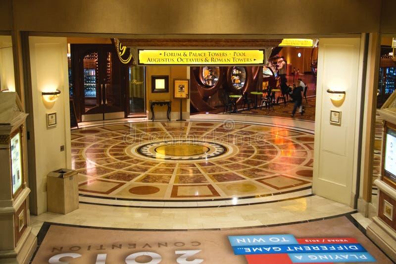 Lobby i Caesar's Palace i Las Vegas royaltyfri foto