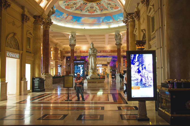 Lobby i Caesar's Palace i Las Vegas royaltyfria bilder