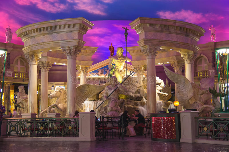 Lobby i Caesar's Palace i Las Vegas arkivbilder