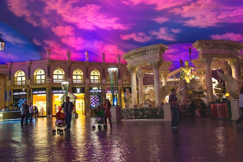 Lobby i Caesar's Palace i Las Vegas royaltyfri fotografi