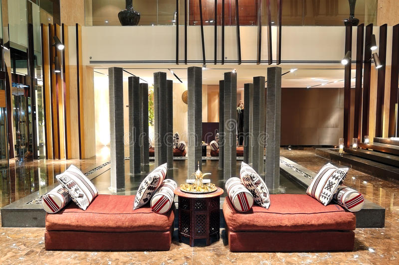 Lobby Interior Of The Luxury Hotel Stock Photo - Image of column, comfort: 25470408