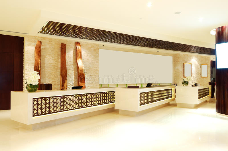 The lobby of luxury hotel royalty free stock photography