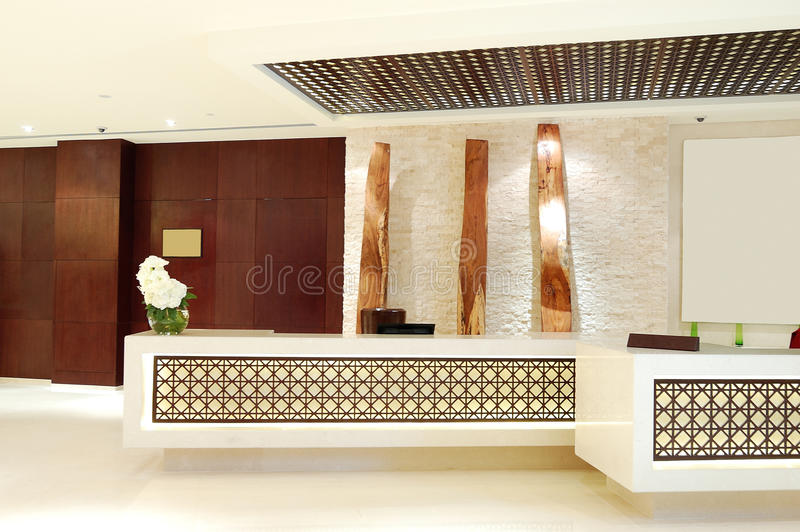 The lobby of luxury hotel royalty free stock image
