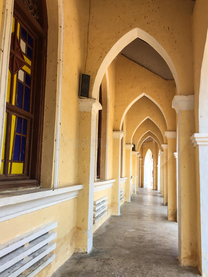 Lobby Mang Lang kościół w Phu jenie, Wietnam obraz royalty free