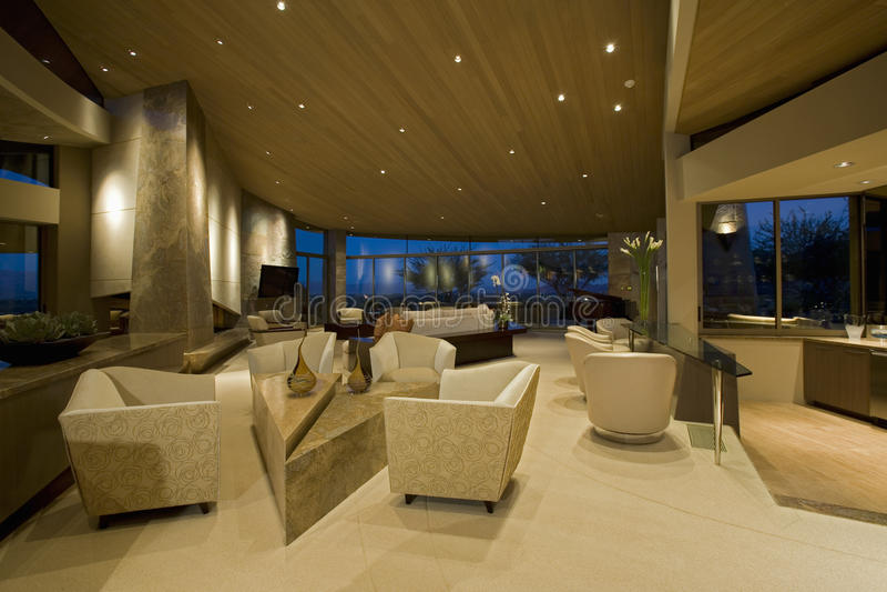 Lobby moderne d'hôtel image stock
