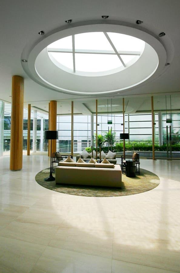 Lobby of new hotel interiors royalty free stock photography