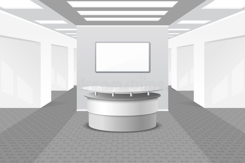 Lobby ou intérieur de réception illustration de vecteur