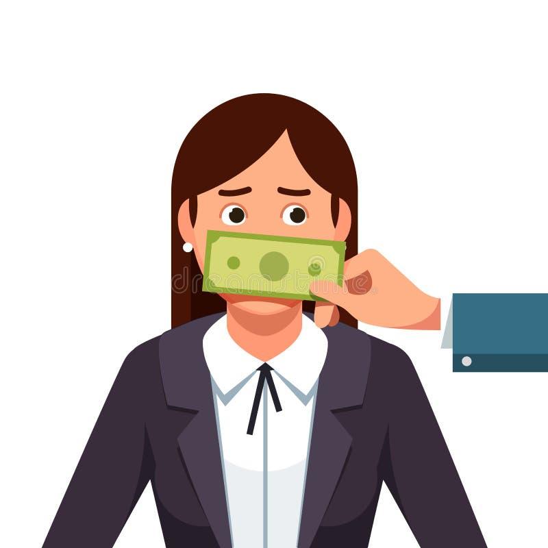 Lobbyistkorruptionskonzept lizenzfreie abbildung