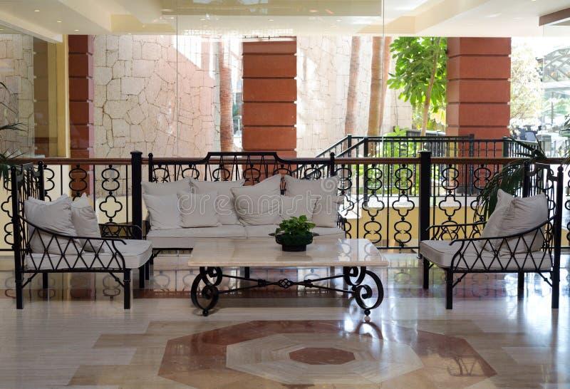 Lobbyområde royaltyfri foto