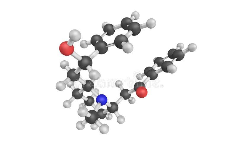 Lobeline is een alkaloïde die in Indische tabak, toba van de Duivel wordt gevonden stock afbeeldingen