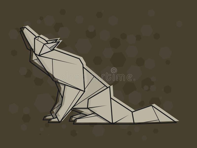 Lobo Abstrato Da Ilustracao Do Vetor Ilustracao Do Vetor