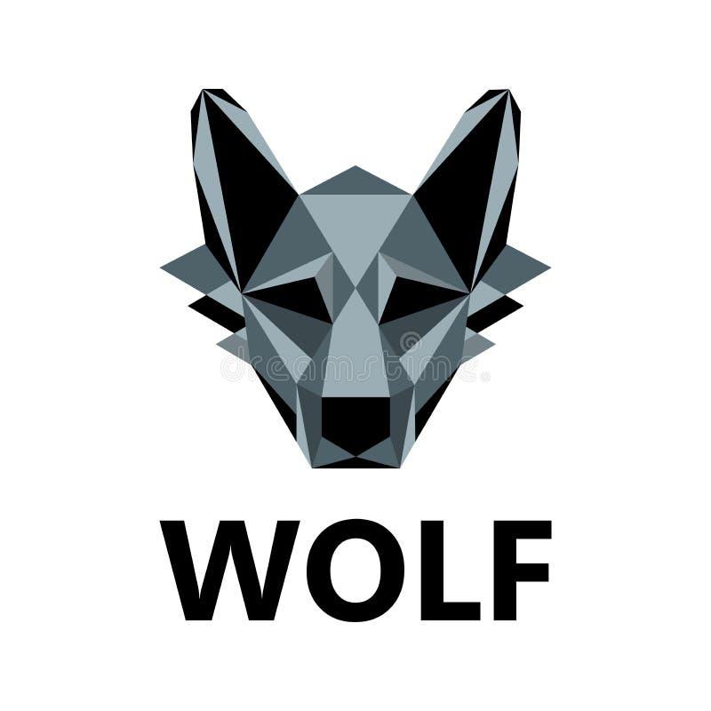Lobo como o projeto do logotipo ilustração do vetor