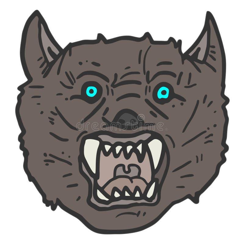 Lobo da cara ilustração stock