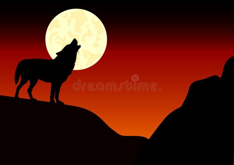 Lobo de Howlin ilustração do vetor