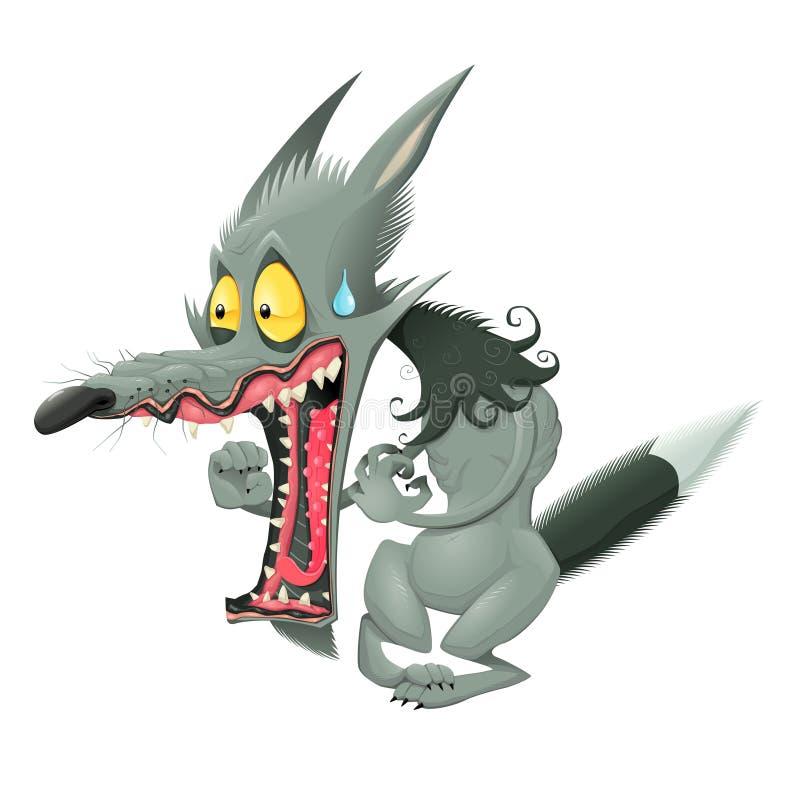 Download Lobo divertido ilustración del vector. Ilustración de carácter - 41908258