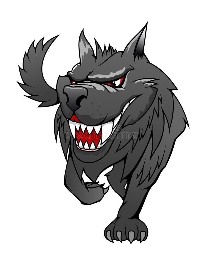 Lobo do perigo ilustração stock