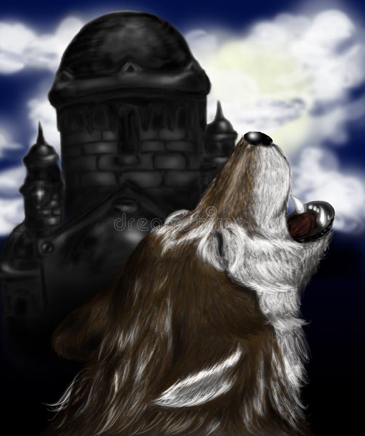 Lobo do urro ilustração royalty free
