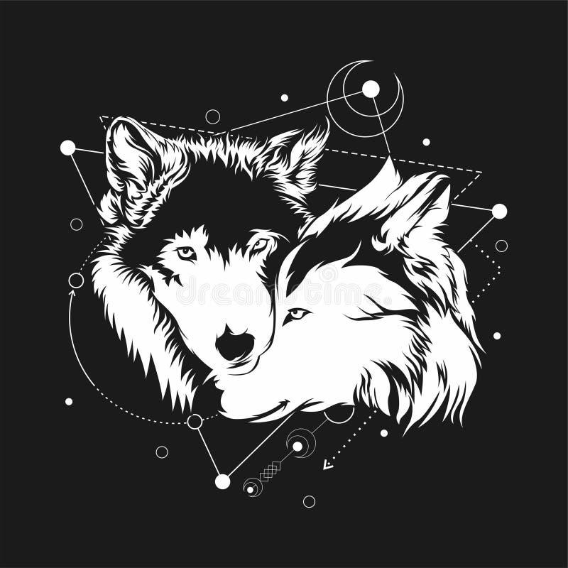 Lobo dos pares ilustração royalty free