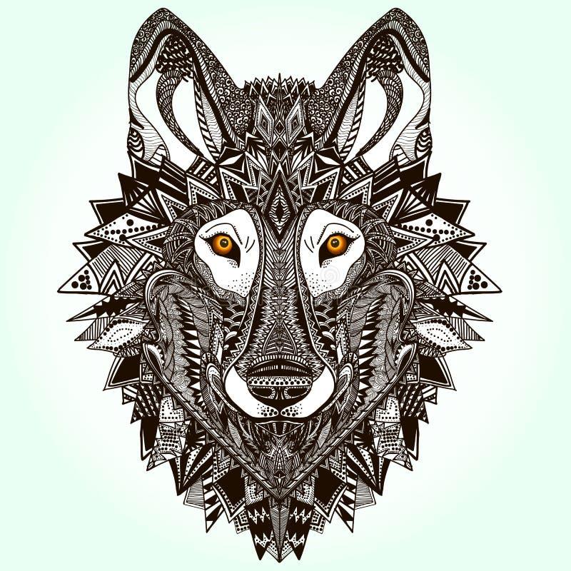 Lobo gráfico fotografia de stock