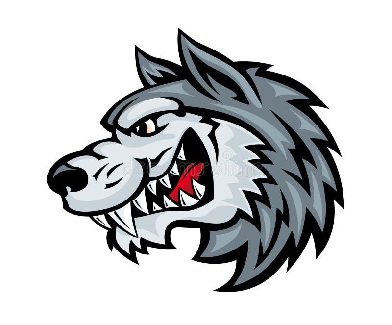 Lobo irritado ilustração royalty free
