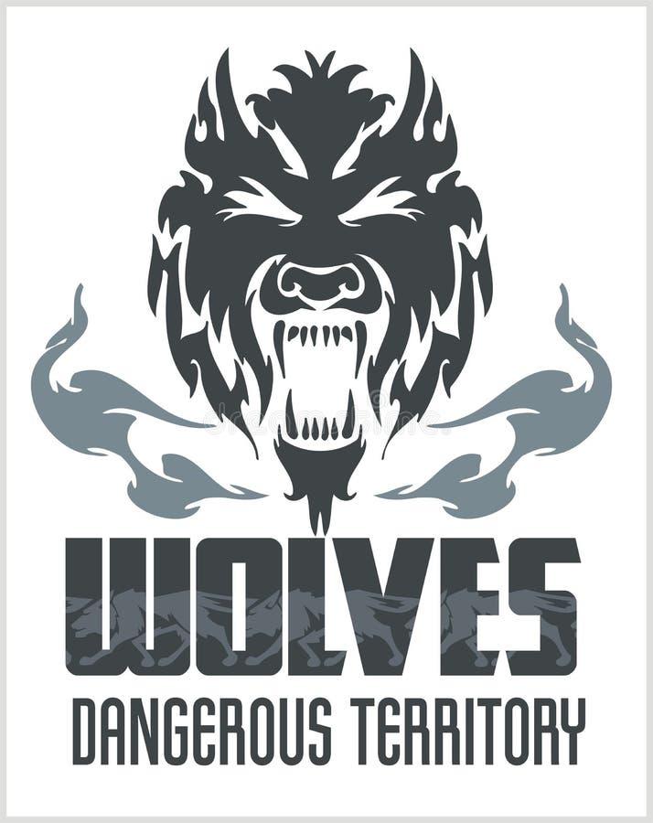 Lobo principal - estilo decorativo norte-americano ilustração do vetor
