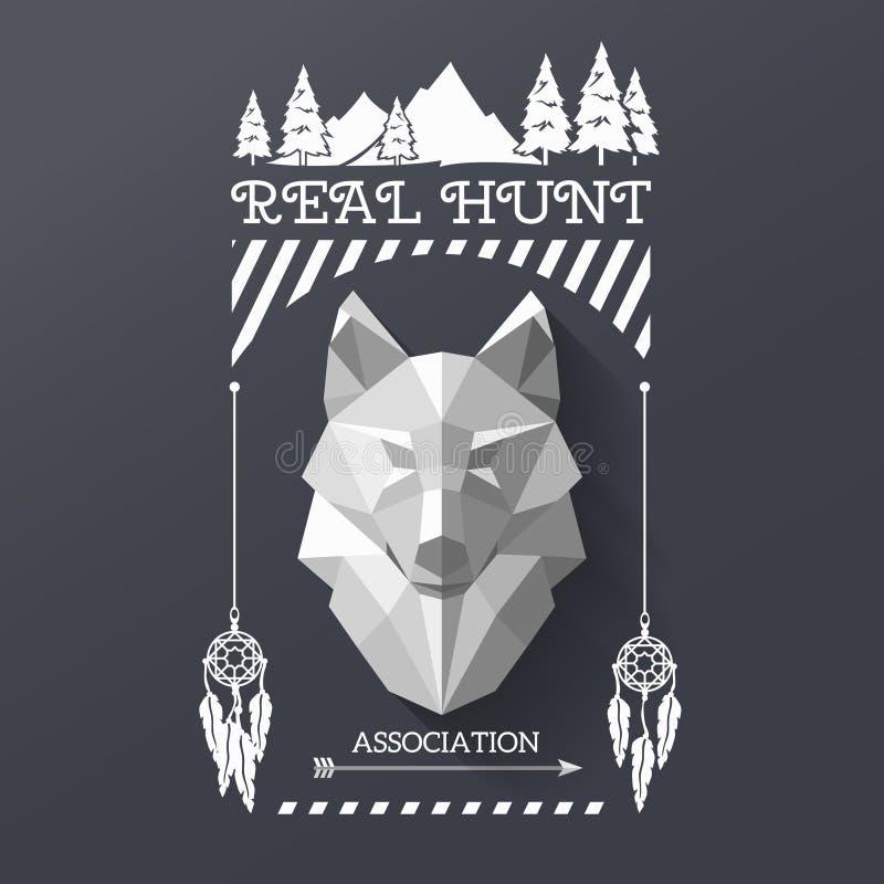 Lobo socirty del cazador libre illustration