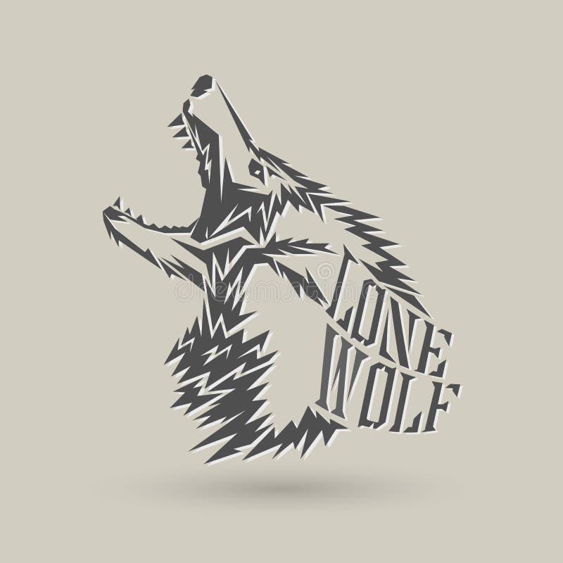 Lobo solitario ilustración del vector
