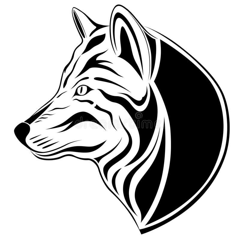 Lobo, tatuagem ilustração stock
