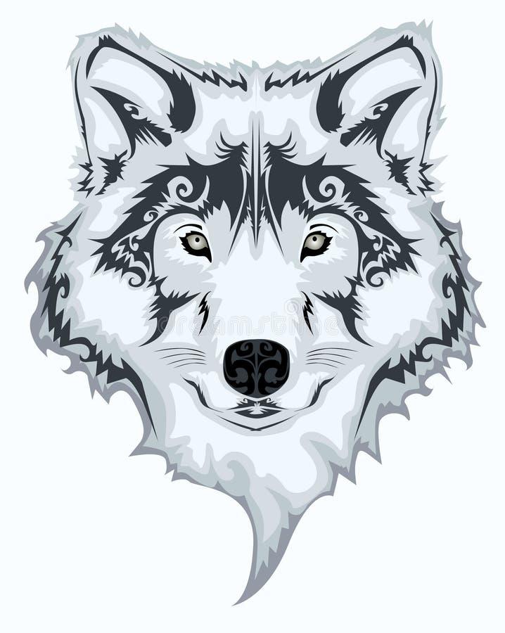 Lobo tribal ilustração stock