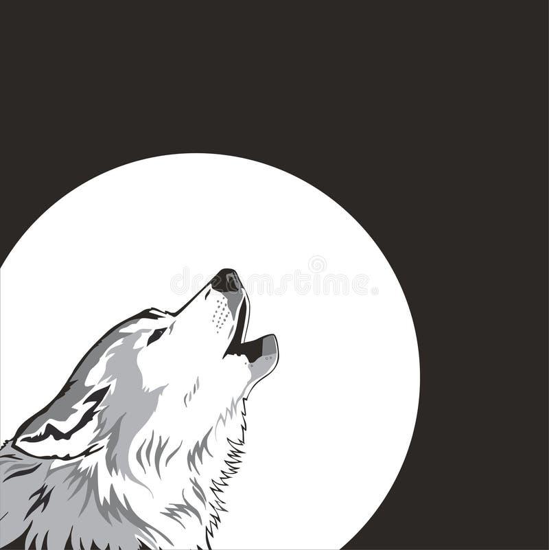 Lobo y luna. libre illustration