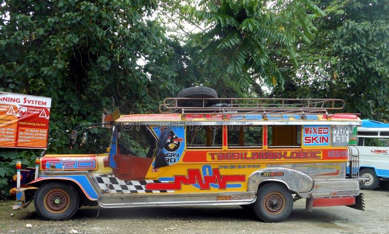 Loboc Jeepney, Filippinerna royaltyfria foton